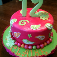 Claire's 12Th Birthday This cake reminds me of a combination of Vera Bradley and Lilly Pulitzer