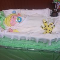 This Is A Life Size Baby Sleeping In A Bassinet Cake *This is a life size baby sleeping in a bassinet cake.
