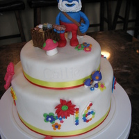 16Th Birthday Papa Smurf Cake  If the wish of a 16 yr old is a Smurf cake, then you make her a Smurf cake! The birthday girl is a chocolate lover so the cake is choc with...
