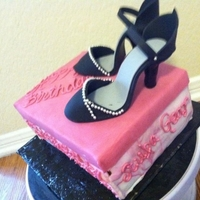 Shoes Are A Girls Best Friend A fun yet classy birthday cake for my best friend. In side jokes are pipe on the side of the shoe box.