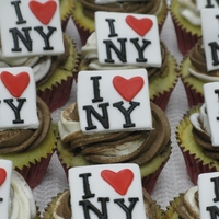 I Love Ny Cupcakes Moving to NYC and made these for my son's class to help them wish him well on his move. Marble cupcakes with vanilla & chocolate...
