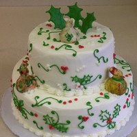 Christmas Gourd Cake I made this cake for a customer who was attending her Christmas Gourd Member Party ...It was all bc icing with fondant gourds.