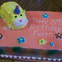 Zhu Zhu Pet Pipsqueek I made this cake for a themed Zhu Zhu Pet Birthday Party.. I used a bread loaf pan and carved out the shape of the Zhu Zhu pet. The eyes,...
