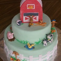 Farm Cake I made and entered this cake in our local County Fair. It was all done in mm fondant. I got second, but of course in my eyes it was first...
