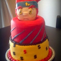 Beyblade Cake Little boy loved beyblad to his mom ordered this. The cake is chocolate lovers cake with chocolate fulling on the top tier and vanilla...
