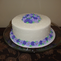 Violets This is the b-day cake I made for myself. : ) It's based on a cake on the Wilton website
