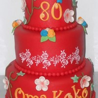 For A 80 Year Old And Very Modern Granma It was so nice creating this cake. I hope you like it too!