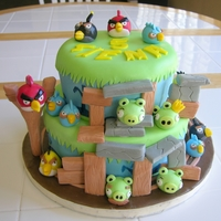 Angry Birds Cake Thank you to YellowBee Cake Company for making this cake first which my daughter saw online and immediately wanted for her birthday. I hope...