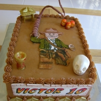 Lego Indiana Jones I made this cake for my son's 10th birthday. He wanted something from each of the Indiana Jones movies. It was fun making this cake...