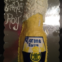 Corona Bottle Cake   margarita lime cake with margarita cream cheese buttercream inspired by many great cakes I've seen here and online