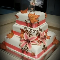 Fall Inspired Wedding Cake Fall wedding cake.