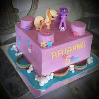 Lego / My Little Pony Cake I wanted to mix both themes since my daughter couldn't decide :)