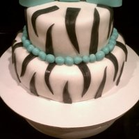 Zebra And Bow for a 13th birthday party
