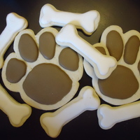 Paw Print And Bone Cookies Cookies for my daughter's 5th birthday party