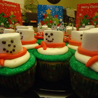 Melting Snowman Cupcakes cupcakes I made for my daughter's preschool Christmas party