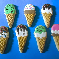 Ice Cream Cone Cookies Ice cream cone sugar cookies