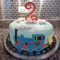 Thomas Themed Birthday Cake Thomas Themed Birthday Cake.