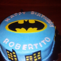 Batman Buttercream with fondant accents