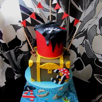 3 Tiered Pirate Birthday Cake!