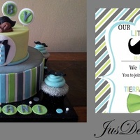 Babyshower Cake Inspired By Clients Invitation   Babyshower Cake inspired by clients invitation