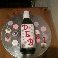 Wine Bottle Birthday Cake One last-minute, completely-rushed birthday cake made for a friend on only a few hours notice! The cakeboard is horribly scratched but it...