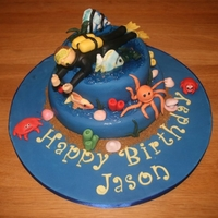 Scuba-Themed Birthday Cake Critique Subgroup Member: A scuba-themed cake for my brother-in-law's birthday. I was fairly pleased with this cake, particularly the...