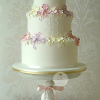 Summer Garden Wedding Cake