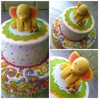 Paislee's First Birthday My friend asked for a cake covered in paisley for her daughter's birthday. She also wanted an elephant and peanuts on it because they...
