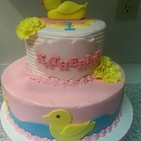 Rubber Ducky Cake Rubber ducky cake based on the customers invitation.