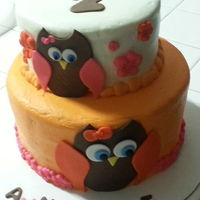 Owl Birthday Cake Owl birthday cake