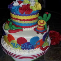 Fiesta Birthday Cake