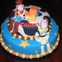 Toy Story Vanilla cake with 3D figures