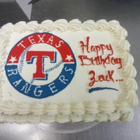 Texas Rangers   butter cream transfer