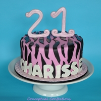Pink And Black Zebra Cake Red Velvet Cake with a cream cheese SMBC