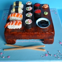 Sushi Cake Been wanting to make a sushi cake for some time now, This was fun to make. Plus I got to do one of my favorite things when I cake decorate...