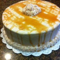 Caramel Delight Made this for FIL, caramel buttercream icing, chocolate cake, with banana filling.