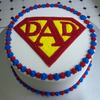 Superdad!   All decorations are buttercream.