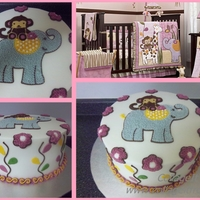 Cocalo Jacana Cake   This cake was made to match the nursery theme. All decorations are buttercream.