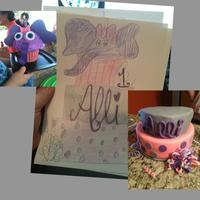 Purple Elepahnt 1St Birthday! Didn't get a picture of the entire cake, this cake was for my Goddaughter's who's party was at my house, so I was running...