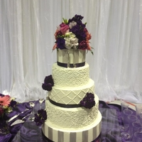 5 Tier Traditional Wedding Cake Second time doing this all buttercream traditional cake! TFL =]