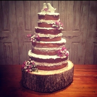 "Rustic Wedding Cake Rustic Wedding Cake 4 tiers 12"",10"",8"",6"""