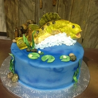 Bass Groom's Cake Bass fish groom's cake. TFL =]