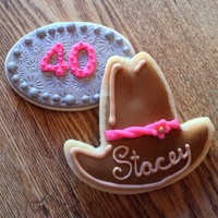 Personalized Cowgirl Sugar Cookies For A 40Th Birthday Celebration Personalized cowgirl sugar cookies for a 40th birthday celebration.