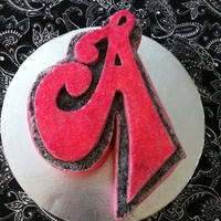 "Just ""a"" Cake A cake--all buttercream with pink candy sprinkles. For A person whose name happens to start with ""A""..."