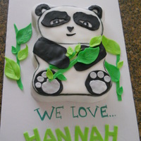 The Pandas Are Coming!! Made a panda cake for a really special person...just wanted to show how appreciated we are to know her :)