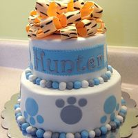 Memphis Tigers Themed Baby Shower Cake Memphis Tigers themed baby shower cake