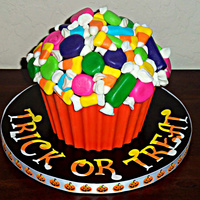 Giant Halloween Cupcake I made this for a Halloween Cupcake Contest.