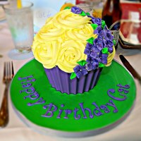 Giant Cupcake Elegant Giant cupcake featuring the birthday girl's favorite colors.