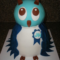 Whoo's Baby Shower Cake My client provided me with a picture of an owl cake she wanted for her 1st grand baby, Not as bad as I thought it would be, had lots of fun...