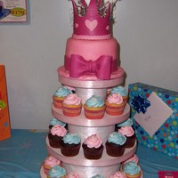 Princess Abigail's Cupcake Tower   Princess Abigail's Cupcake TowerCrown was created without a pattern by me!